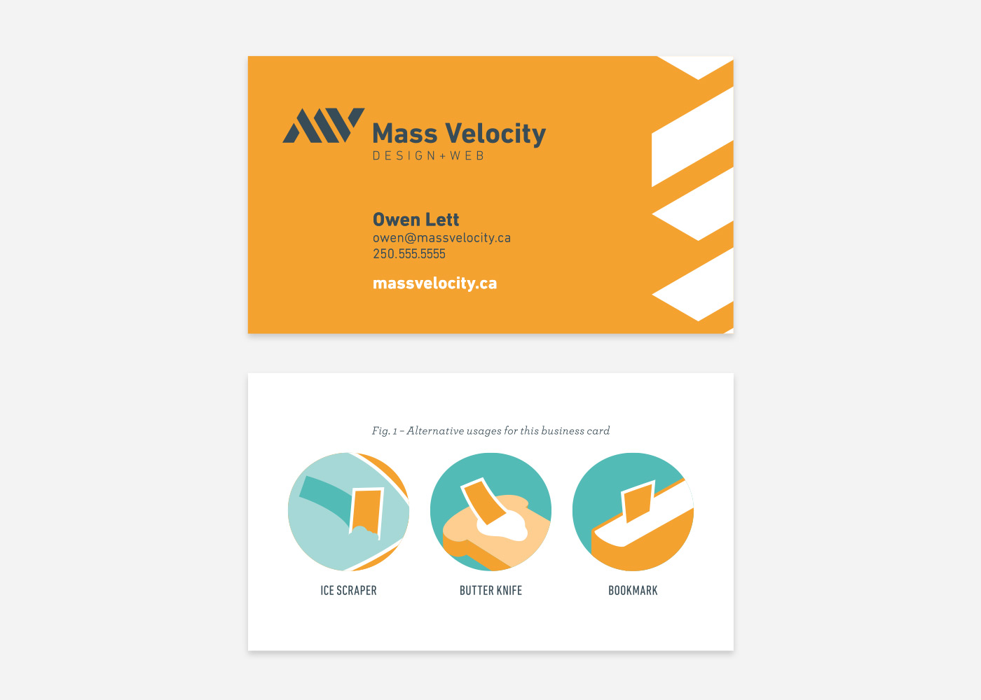 Mass Velocity Business Cards