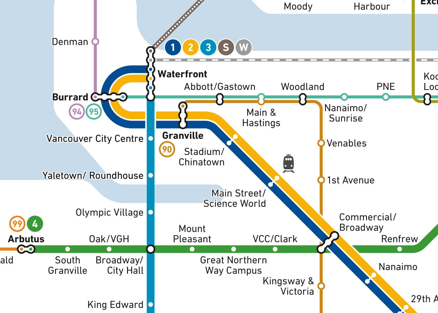 Vancouver Subway Map.Words Owen Lett