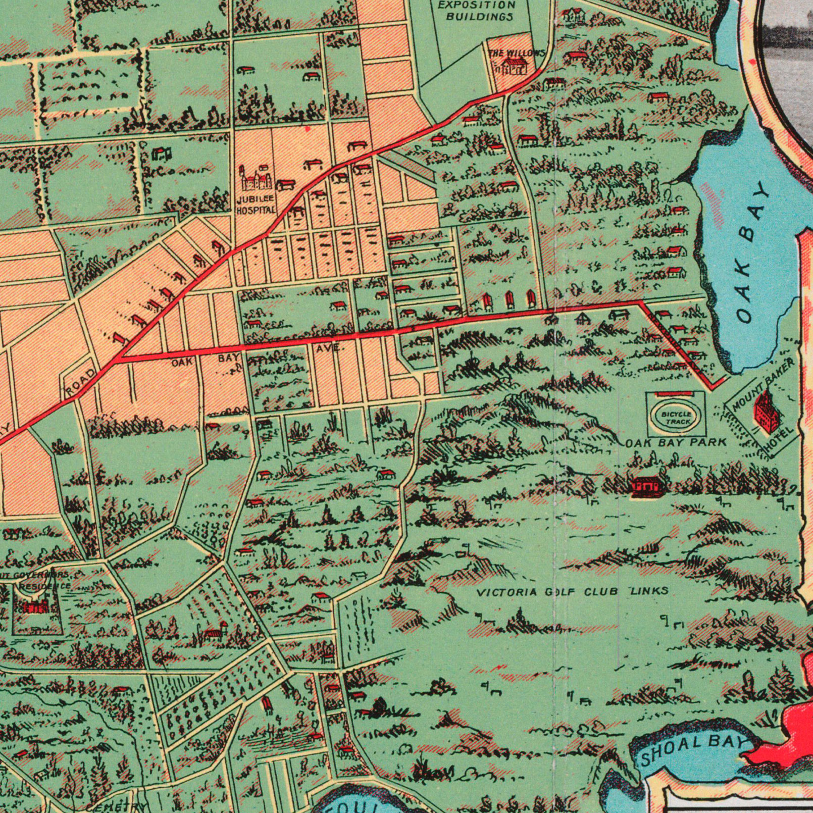 Victoria Streetcar Map 1902 – Oak Bay/Fairfield